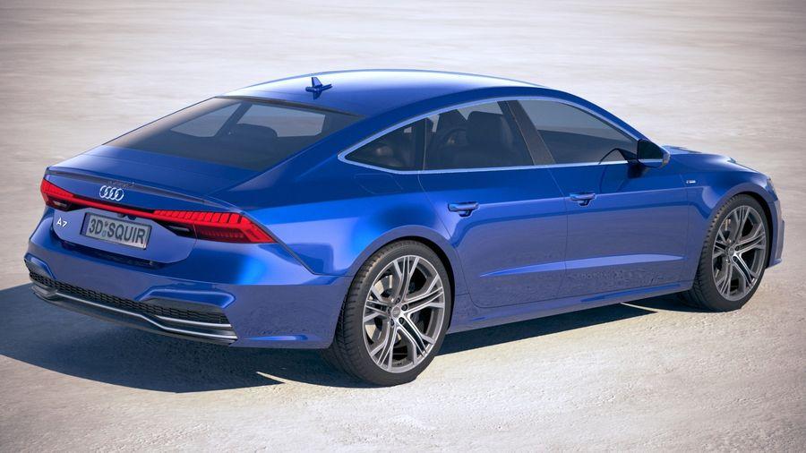 Audi A7 S Line Sportback 2018 3d Model 129 Obj Max