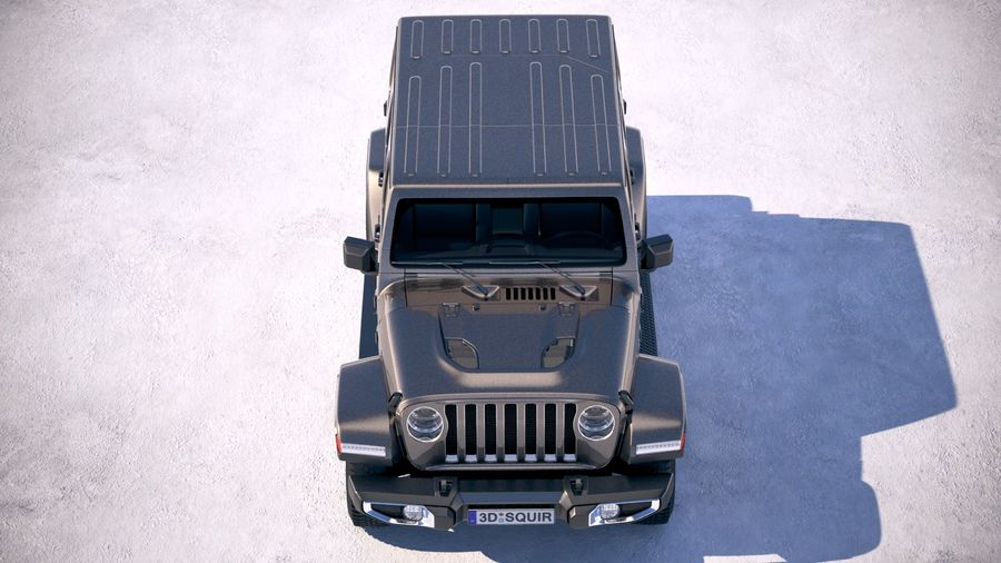 Jeep Wrangler Unlimited Sahara 2018 royalty-free 3d model - Preview no. 9