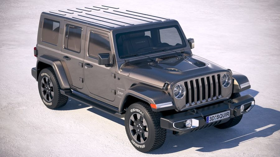 Jeep Wrangler Unlimited Sahara 2018 royalty-free 3d model - Preview no. 12