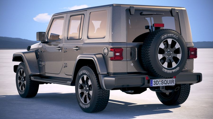 Jeep Wrangler Unlimited Sahara 2018 royalty-free 3d model - Preview no. 14