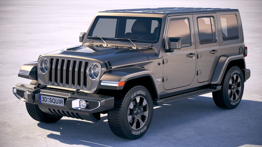 Jeep Wrangler Unlimited Sahara 2018 royalty-free 3d model - Preview no. 1
