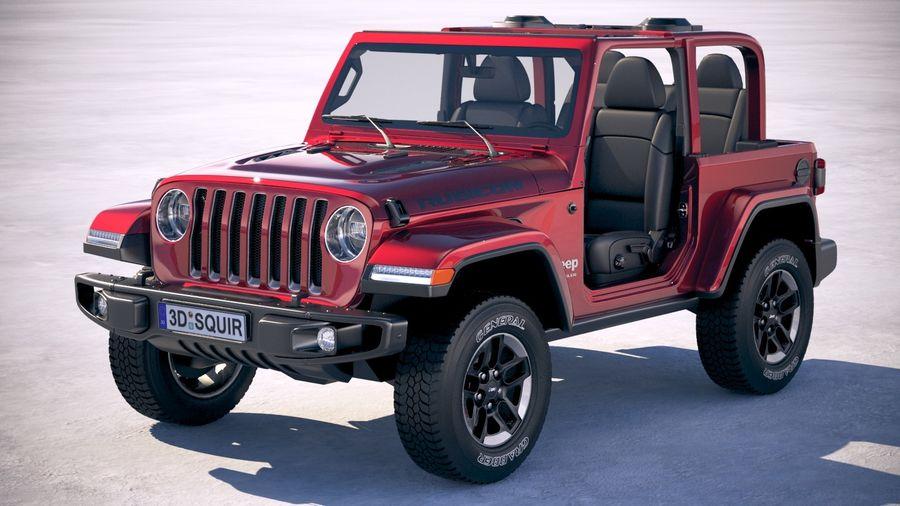 Jeep Wrangler Rubicon 2018 3D Model $169 - .c4d .obj .max ...