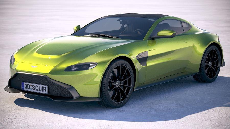 Aston Martin Vantage 2019 3d Model 129 Obj Max Ma Lwo Fbx