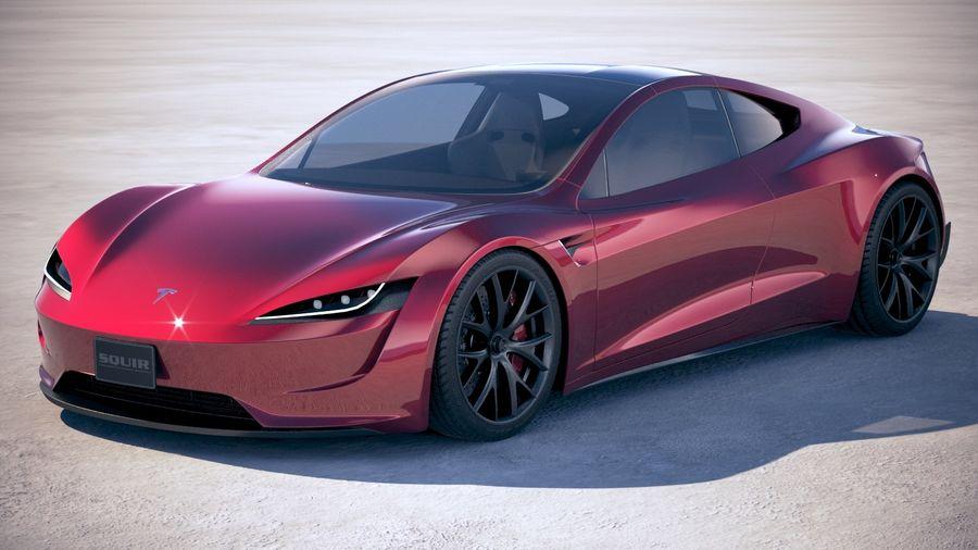 Tesla Roadster 2020 3d Model 129 Obj Max Ma Lwo
