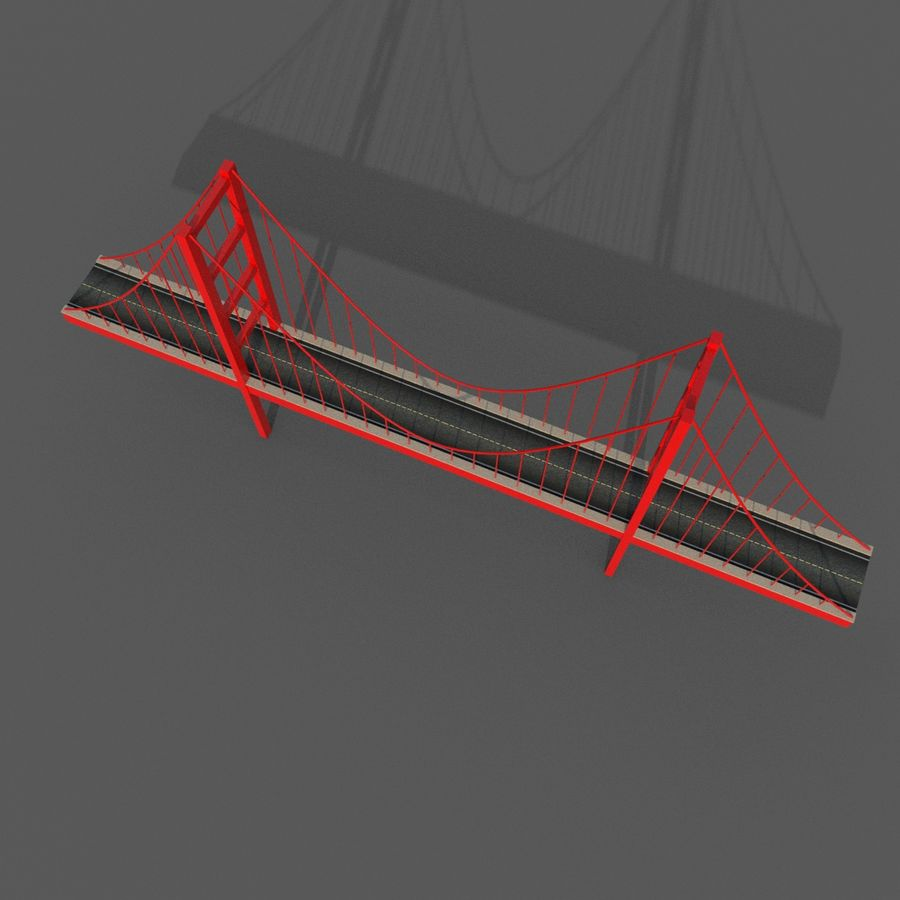 Cartoony Bridge royalty-free 3d model - Preview no. 7
