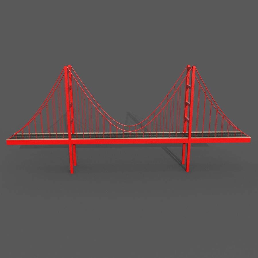 Cartoony Bridge royalty-free 3d model - Preview no. 6