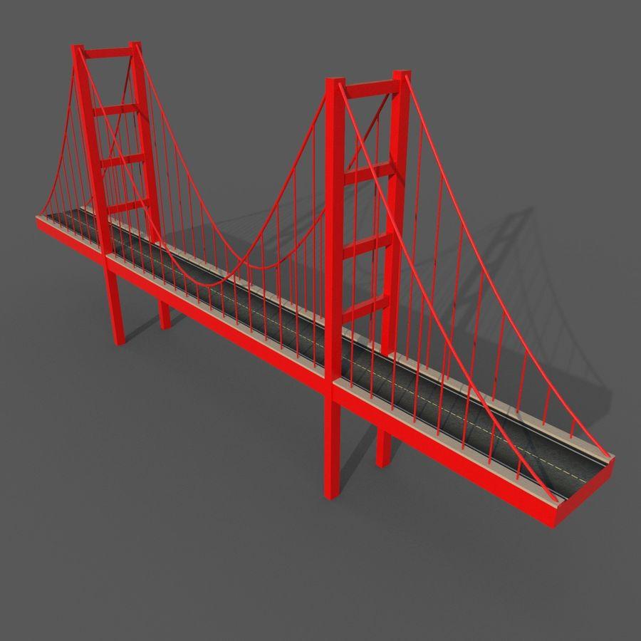 Cartoony Bridge royalty-free 3d model - Preview no. 2