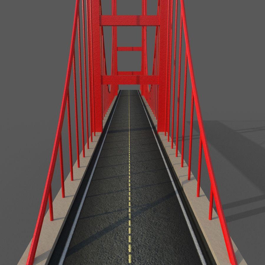 Cartoony Bridge royalty-free 3d model - Preview no. 5