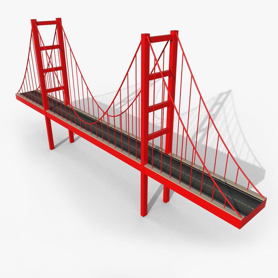 Cartoony Bridge royalty-free 3d model - Preview no. 1
