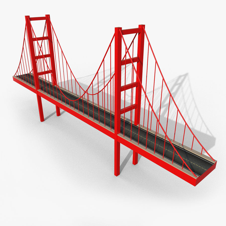 Cartoony Bridge royalty-free 3d model - Preview no. 1
