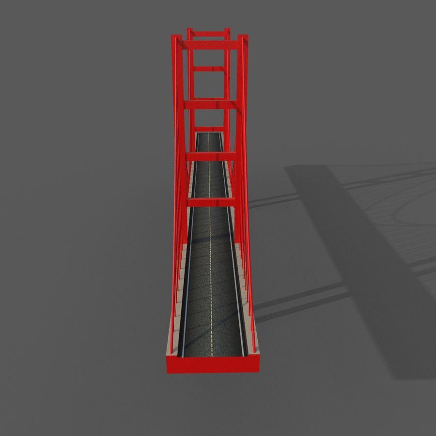 Cartoony Bridge royalty-free 3d model - Preview no. 4