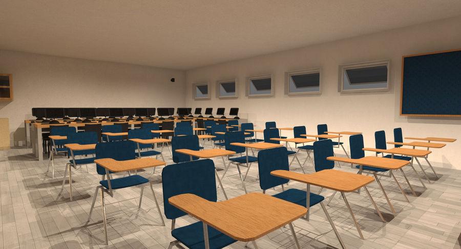 College Classroom 3d Model 20 Fbx Obj C4d Skp Dae