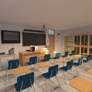 College Classroom 3d model