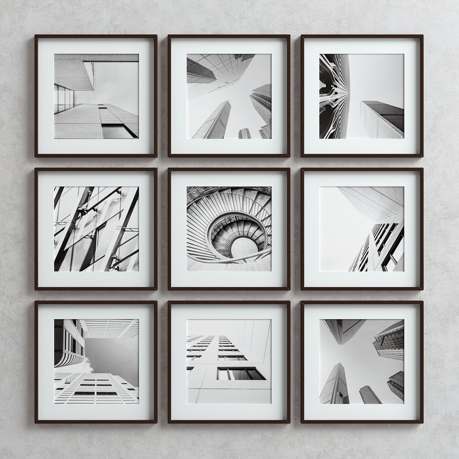 Picture Frames Set -3 royalty-free 3d model - Preview no. 5
