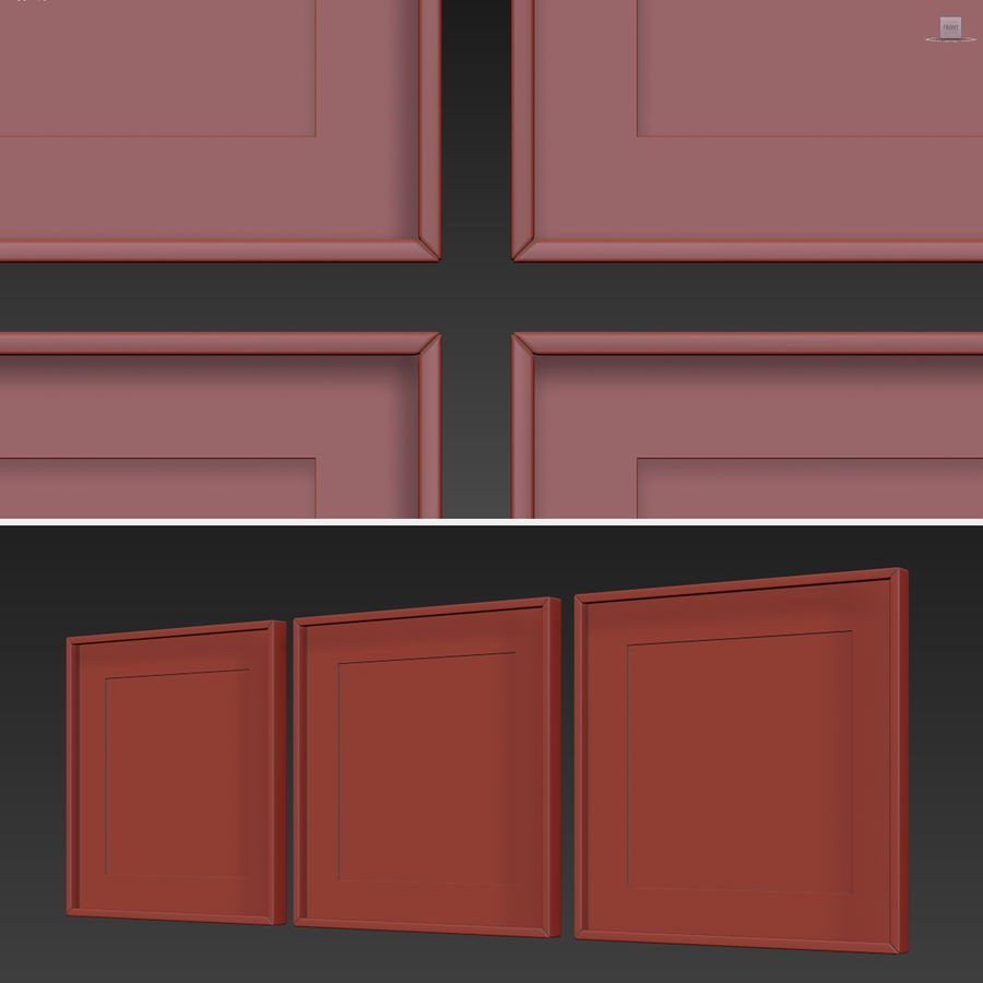 Picture Frames Set -3 royalty-free 3d model - Preview no. 7