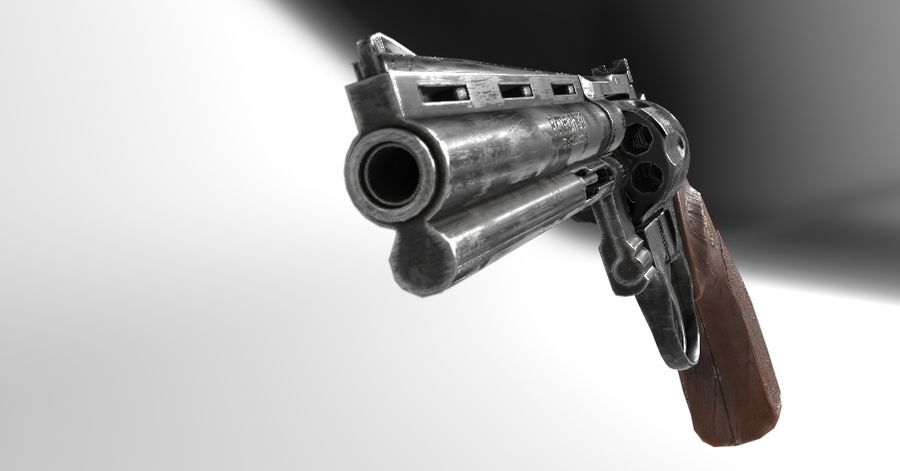 357 Magnum royalty-free 3d model - Preview no. 3