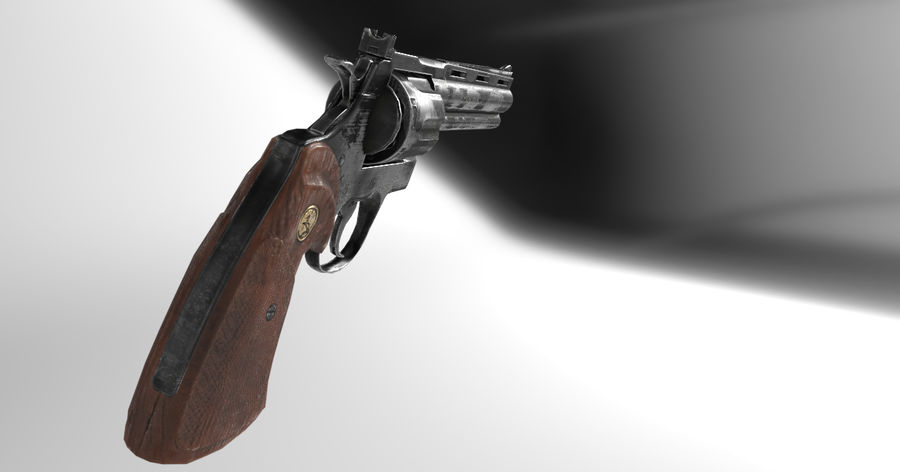 357 Magnum royalty-free 3d model - Preview no. 2