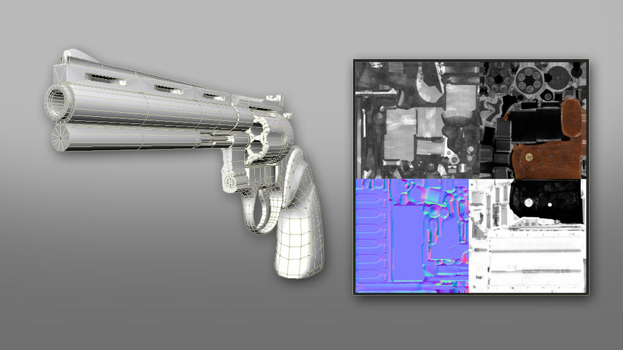 357 Magnum royalty-free 3d model - Preview no. 5