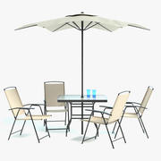 Patio Table Set 3d model