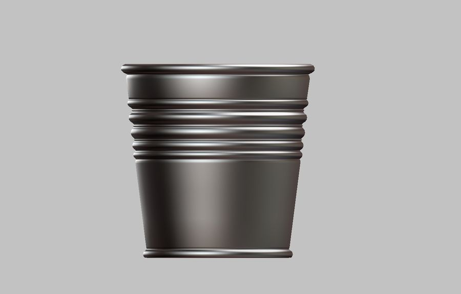 Metal Plant Pot royalty-free 3d model - Preview no. 3