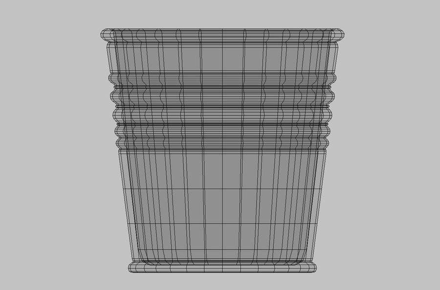 Metal Plant Pot royalty-free 3d model - Preview no. 7