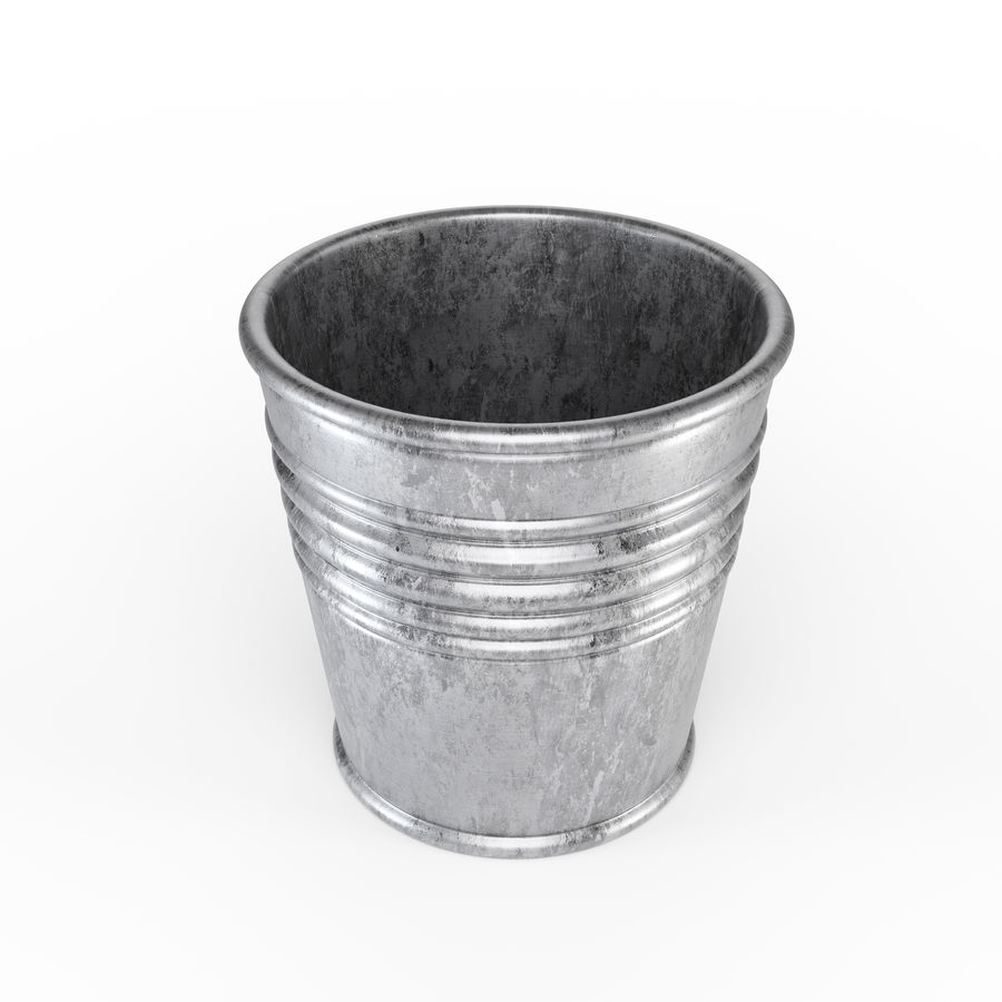 Metal Plant Pot royalty-free 3d model - Preview no. 2