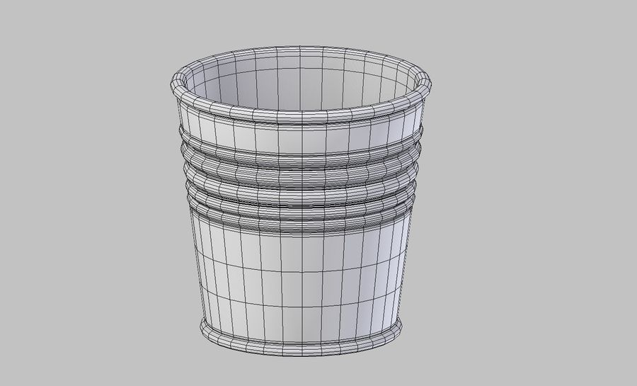 Metal Plant Pot royalty-free 3d model - Preview no. 6