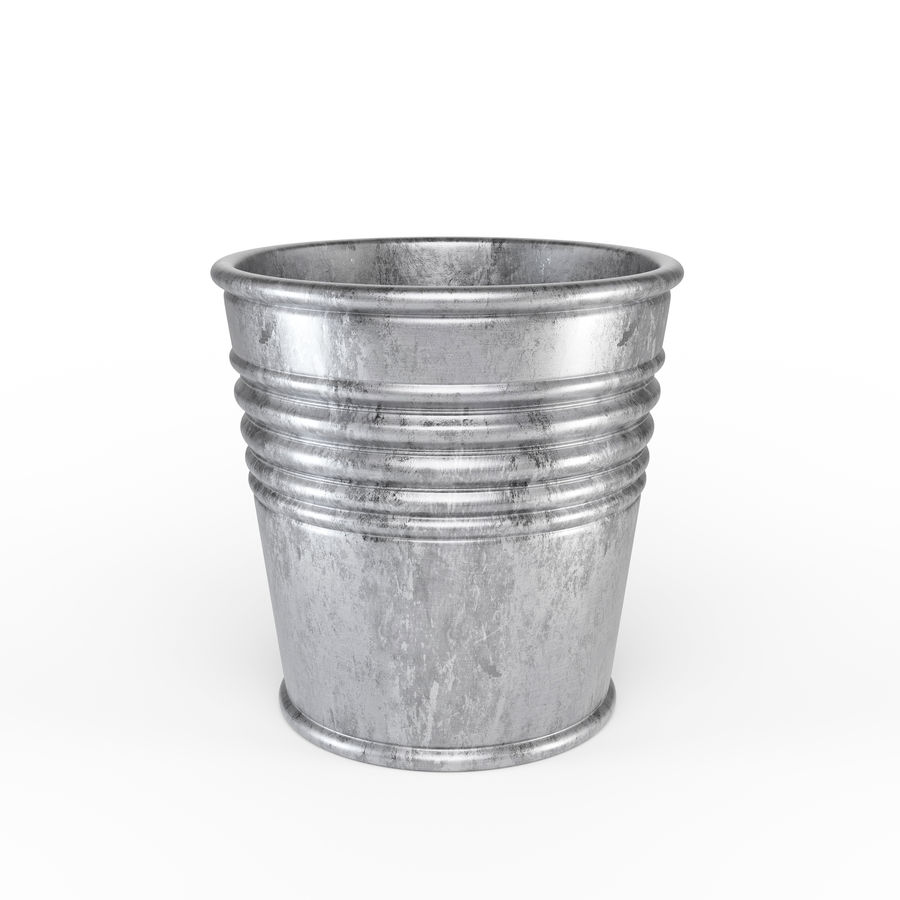Metal Plant Pot royalty-free 3d model - Preview no. 1