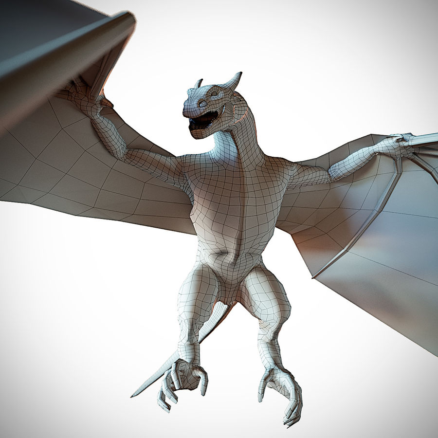 Wyvern royalty-free 3d model - Preview no. 2