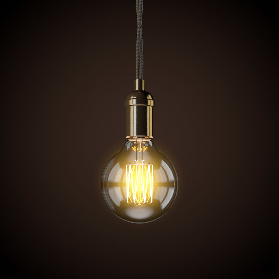 Vintage Light Bulb C4D royalty-free 3d model - Preview no. 1