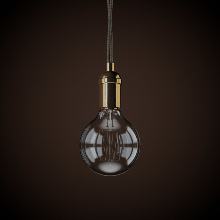 Vintage Light Bulb C4D royalty-free 3d model - Preview no. 2