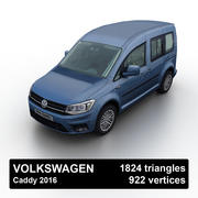 VW Caddy 2016 3d model