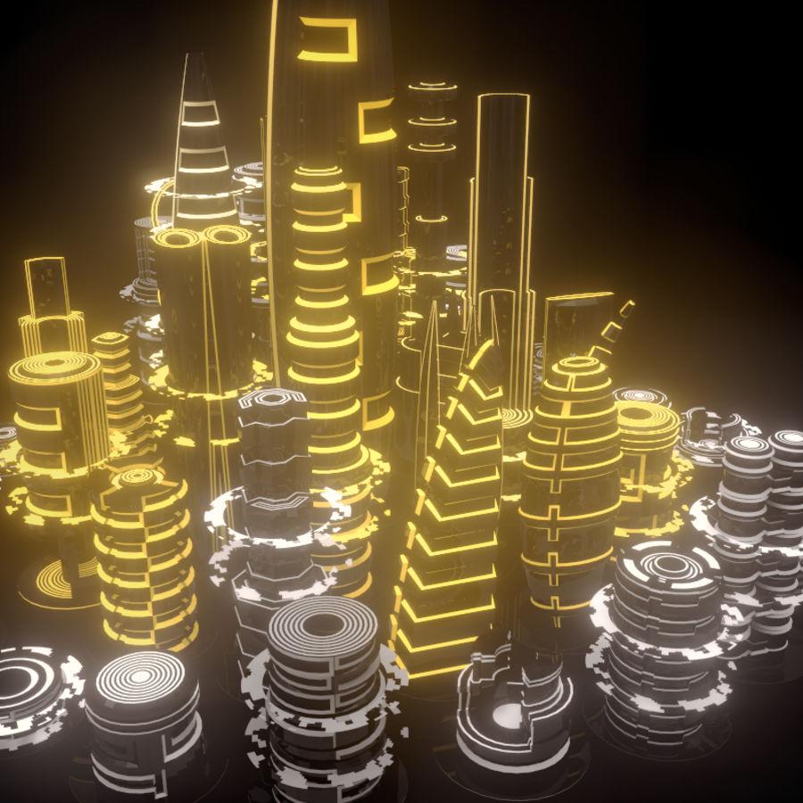 SciFi City royalty-free 3d model - Preview no. 5
