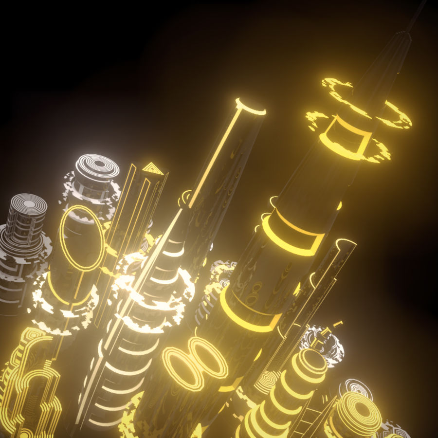 SciFi City royalty-free 3d model - Preview no. 6