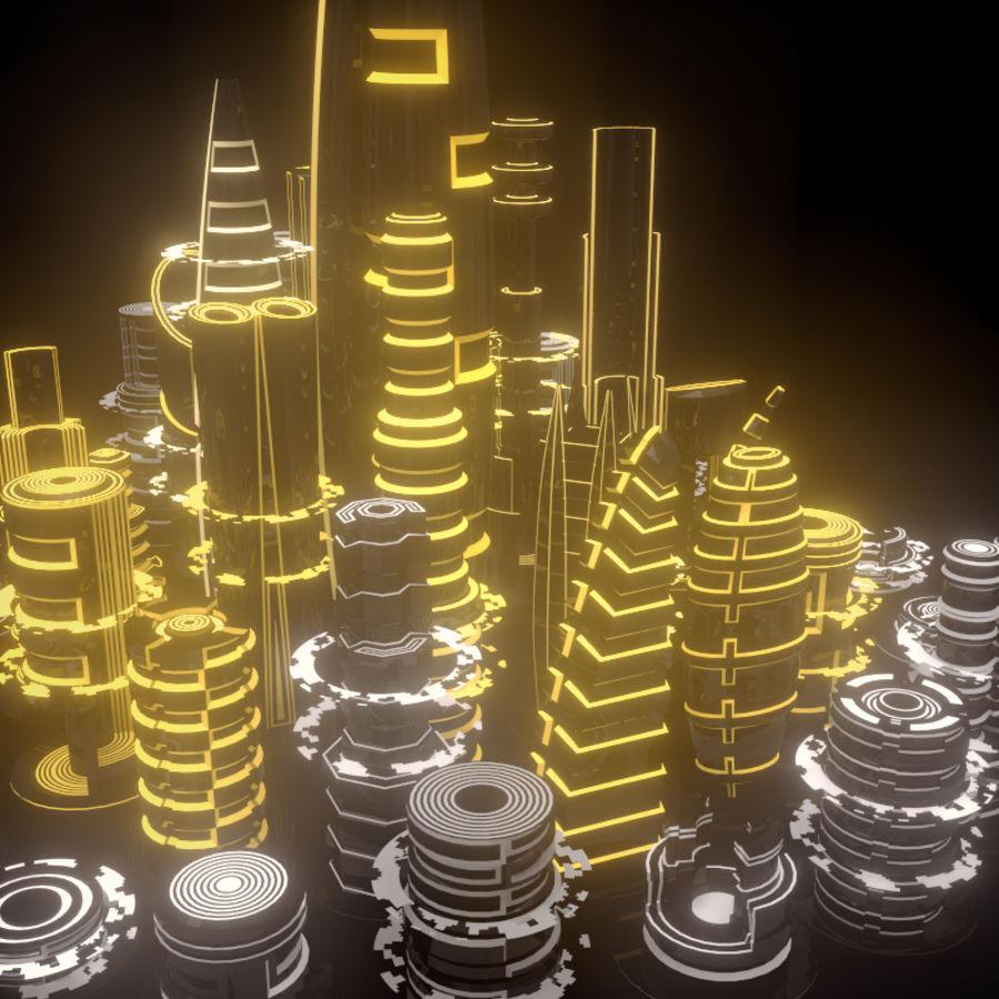 SciFi City royalty-free 3d model - Preview no. 4