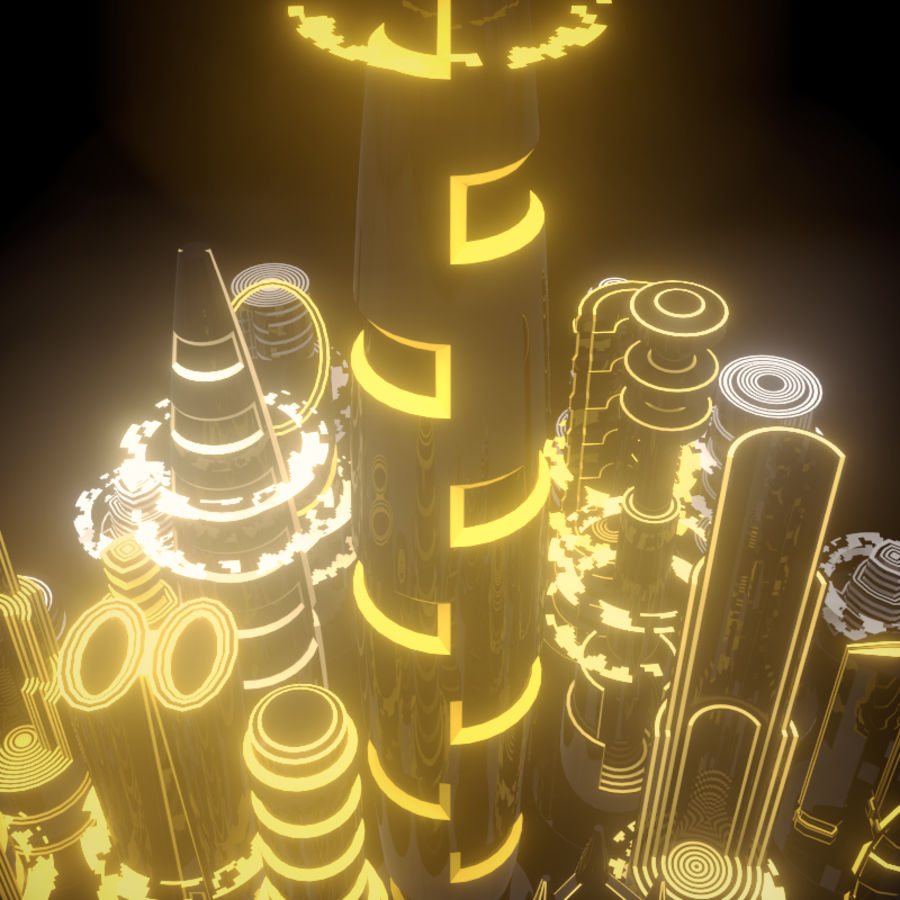 SciFi City royalty-free 3d model - Preview no. 2
