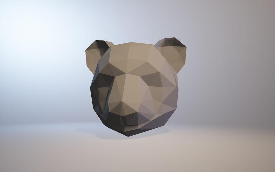 low-poly panda model royalty-free 3d model - Preview no. 1
