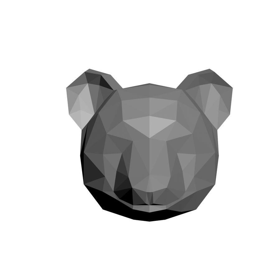 low-poly panda model royalty-free 3d model - Preview no. 3
