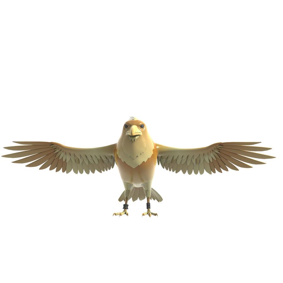 Cartoon Bird royalty-free 3d model - Preview no. 4