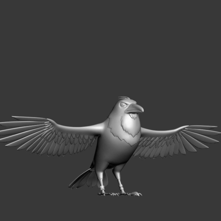 Cartoon Bird royalty-free 3d model - Preview no. 8