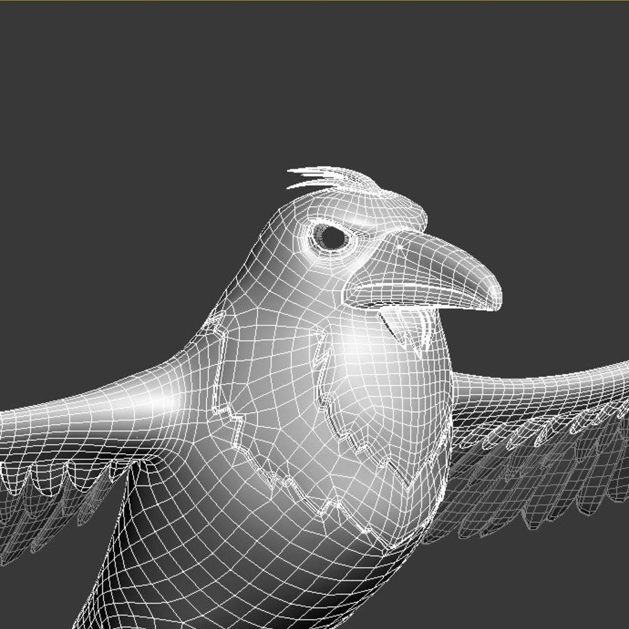 Cartoon Bird royalty-free 3d model - Preview no. 11