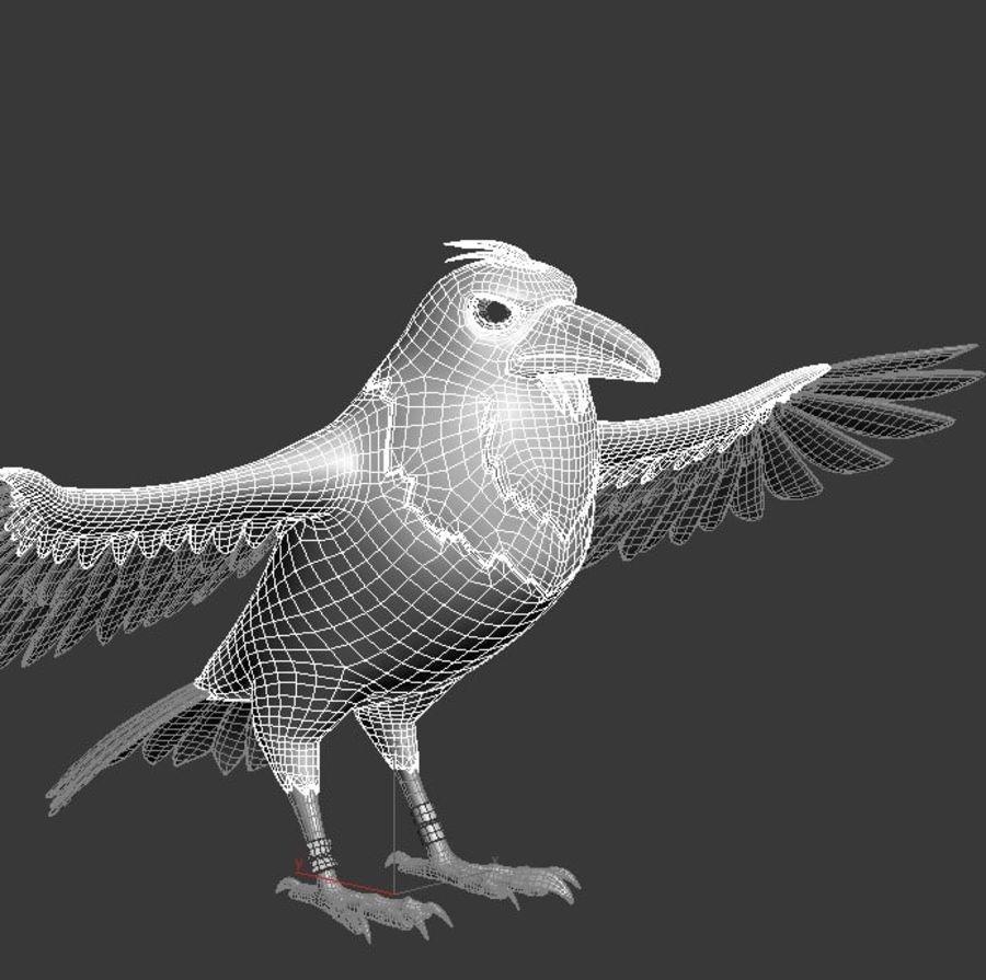 Cartoon Bird royalty-free 3d model - Preview no. 14