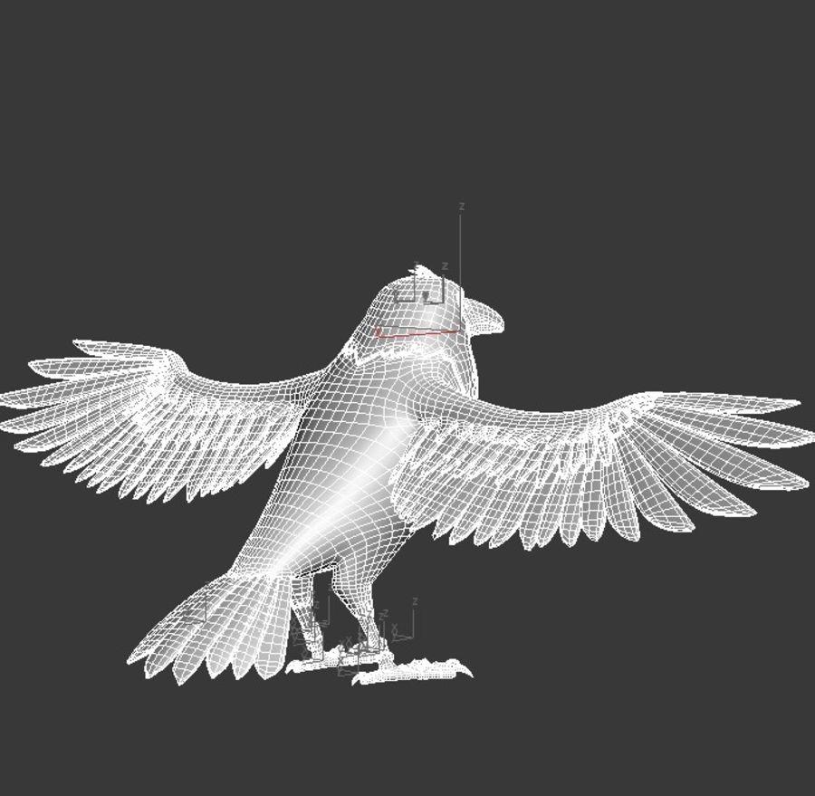 Cartoon Bird royalty-free 3d model - Preview no. 10
