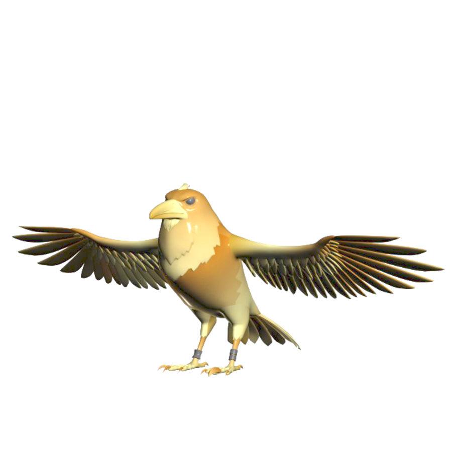 Cartoon Bird royalty-free 3d model - Preview no. 7