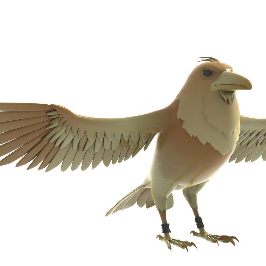 Cartoon Bird royalty-free 3d model - Preview no. 3