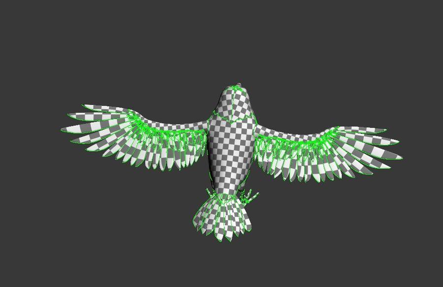 Cartoon Bird royalty-free 3d model - Preview no. 15