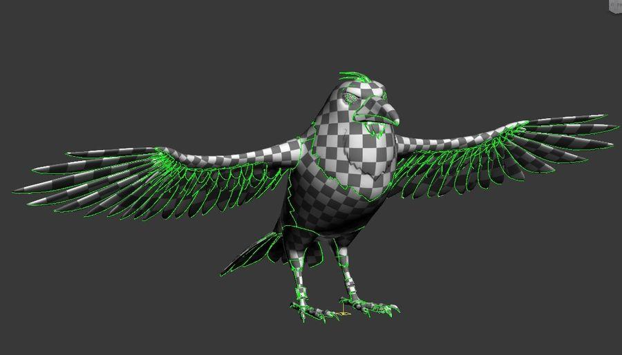Cartoon Bird royalty-free 3d model - Preview no. 16