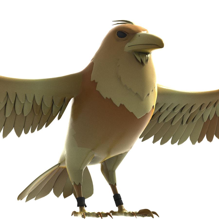 Cartoon Bird royalty-free 3d model - Preview no. 6