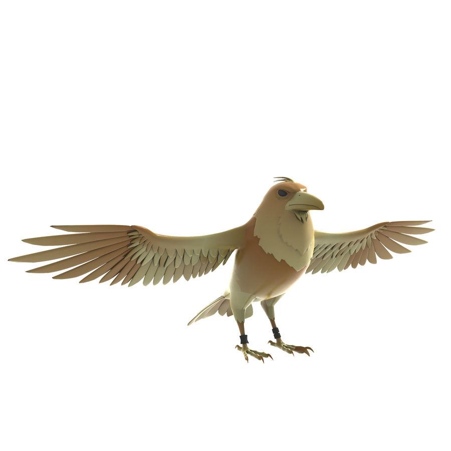 Cartoon Bird royalty-free 3d model - Preview no. 2