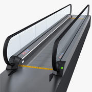 Airport Moving Walkway Rigged 3d model